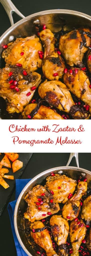 Mediterranean Chicken with pomegranate molasses and zaatar