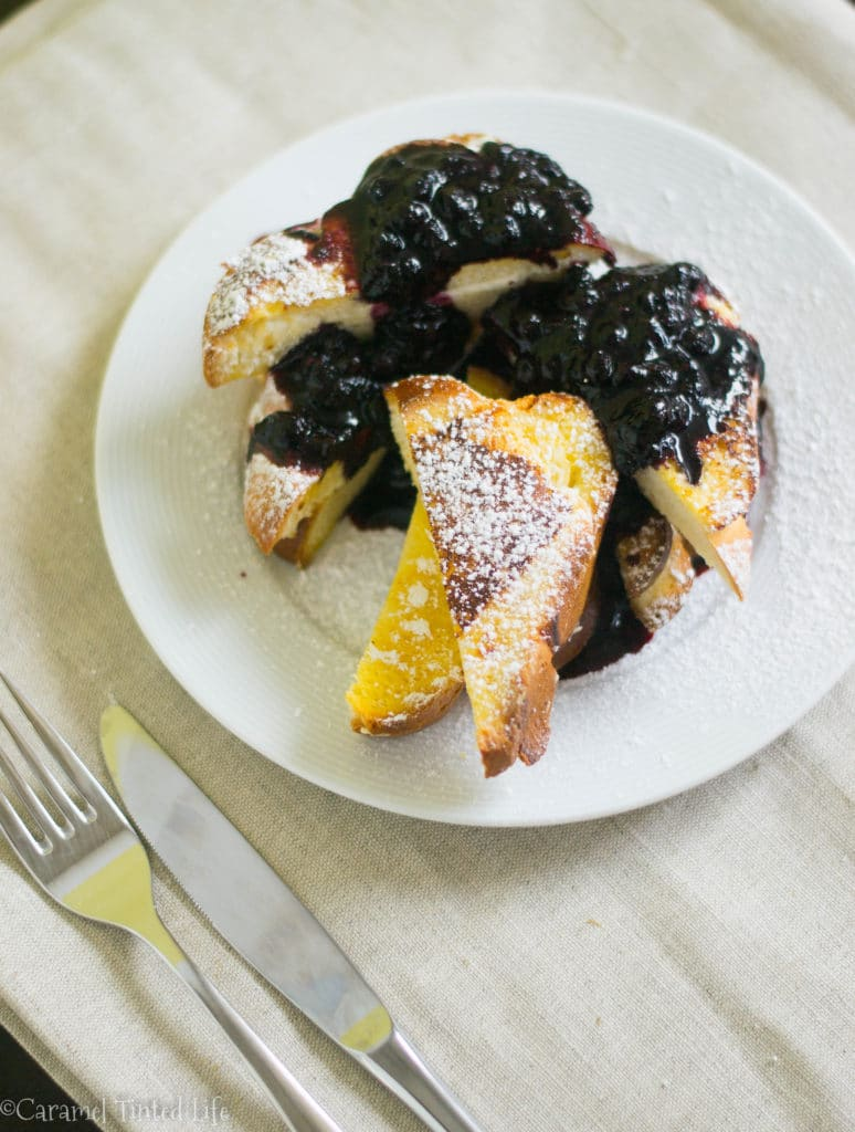 Blueberry cream cheese french toast