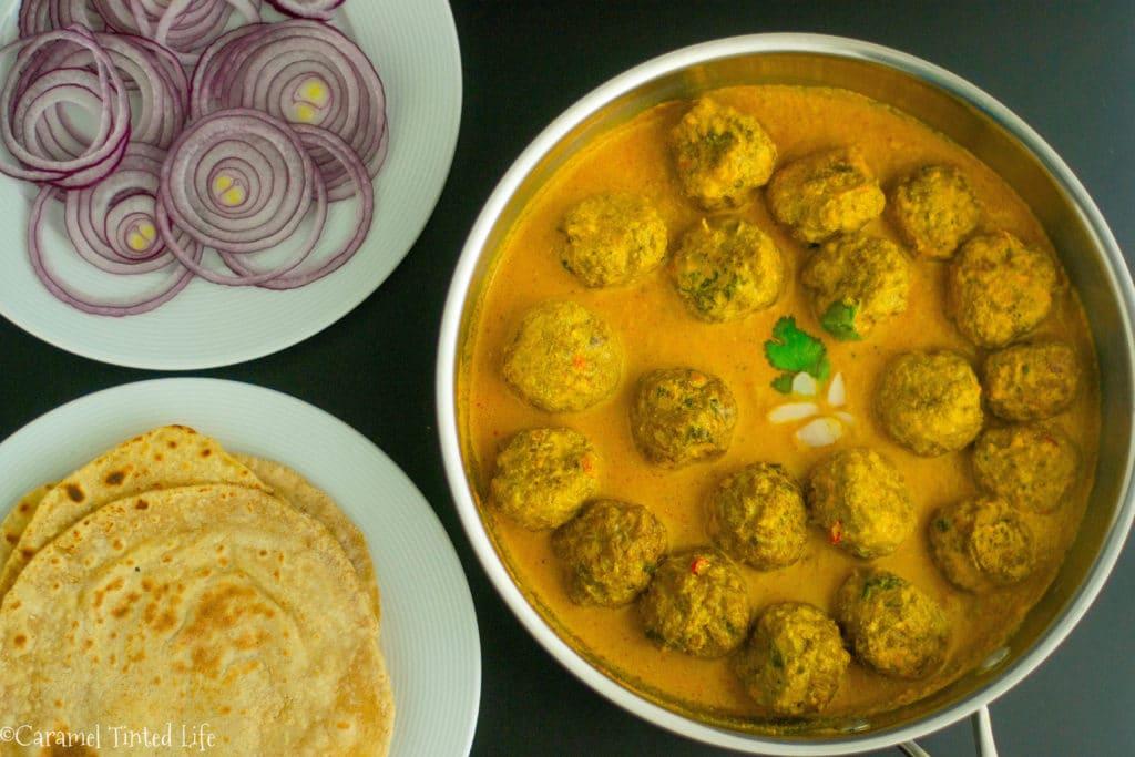 Kofta Curry on a plate