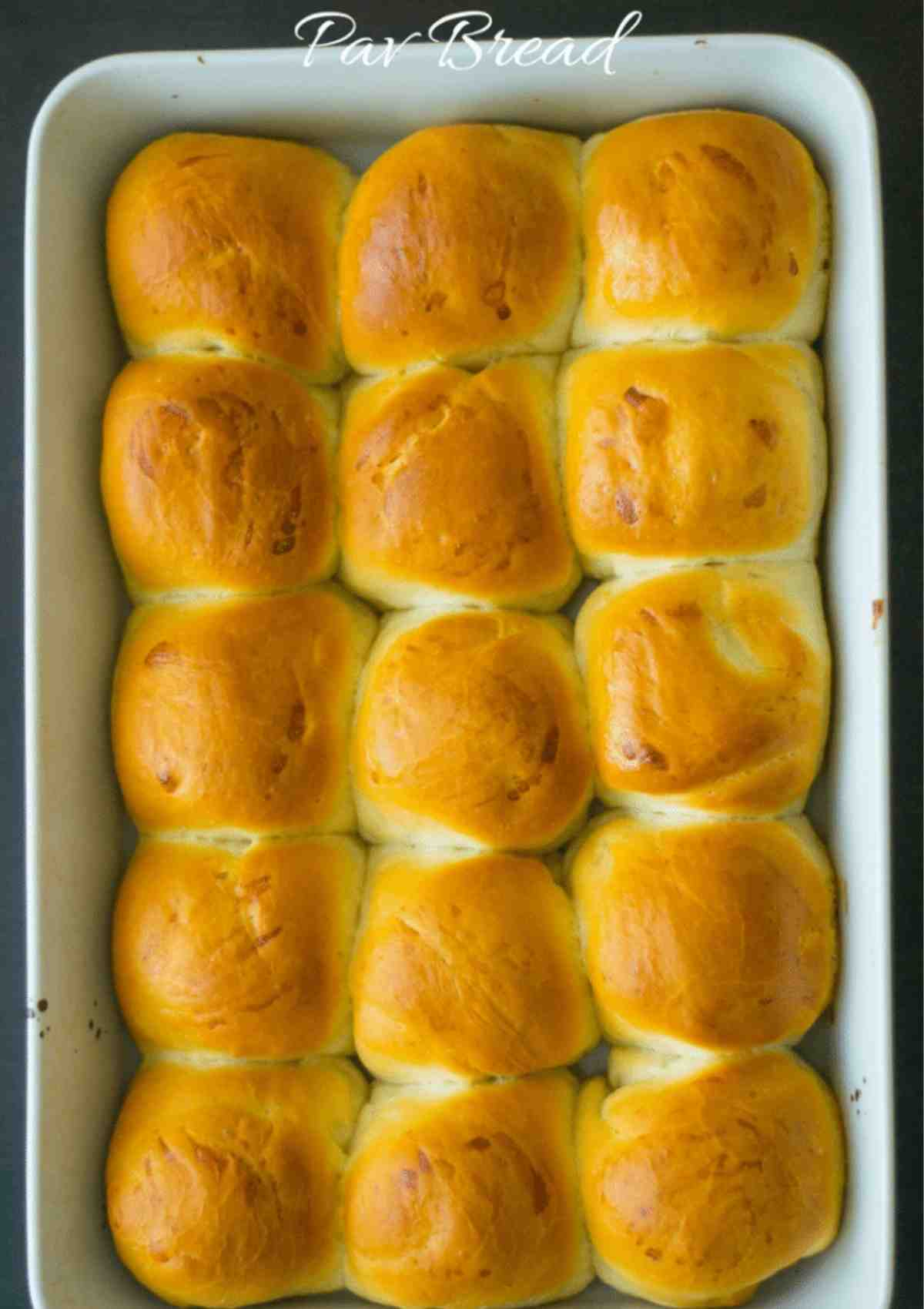 Freshly baked pav bread