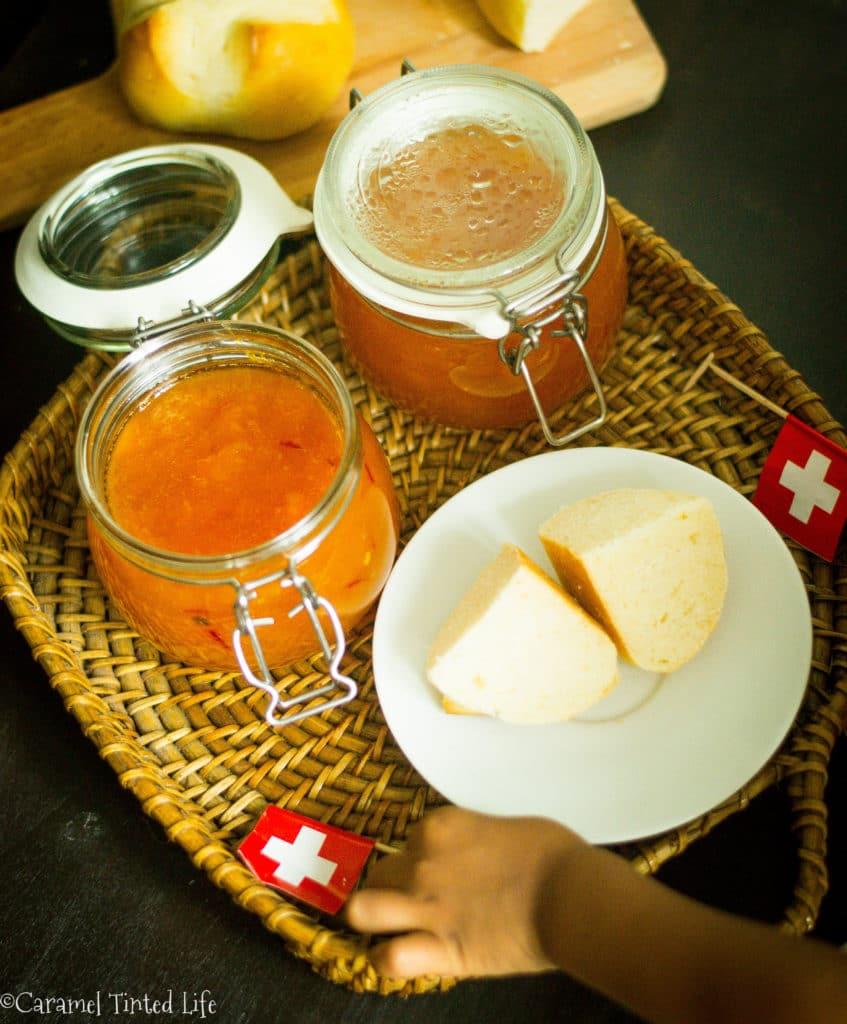 Peach, saffron and balsamic jam