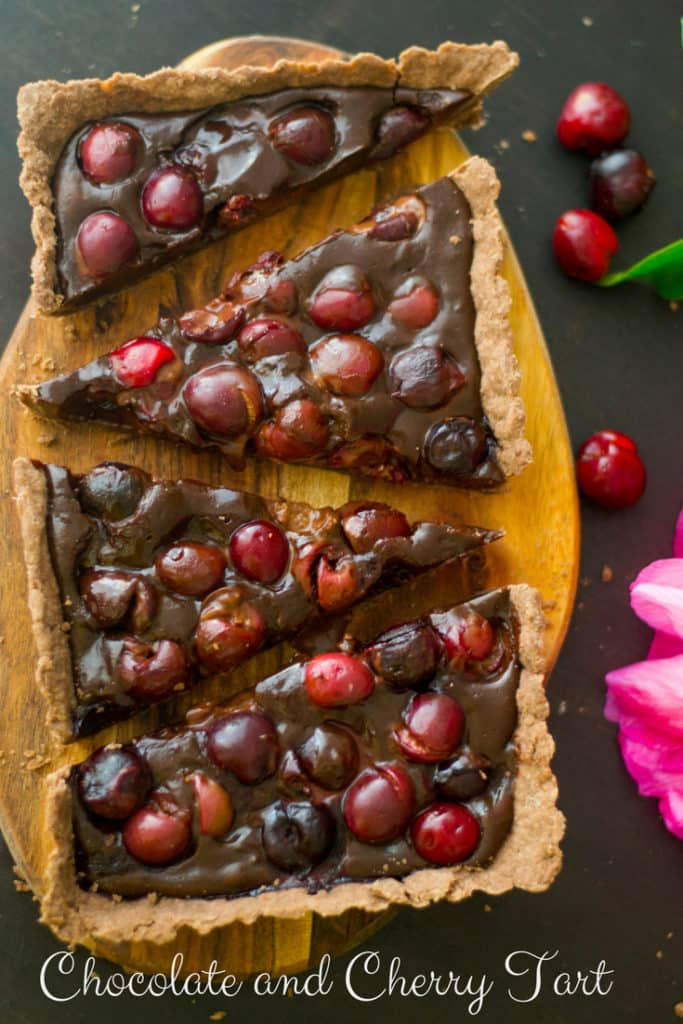 Soft Chocolate and Cherry Tart