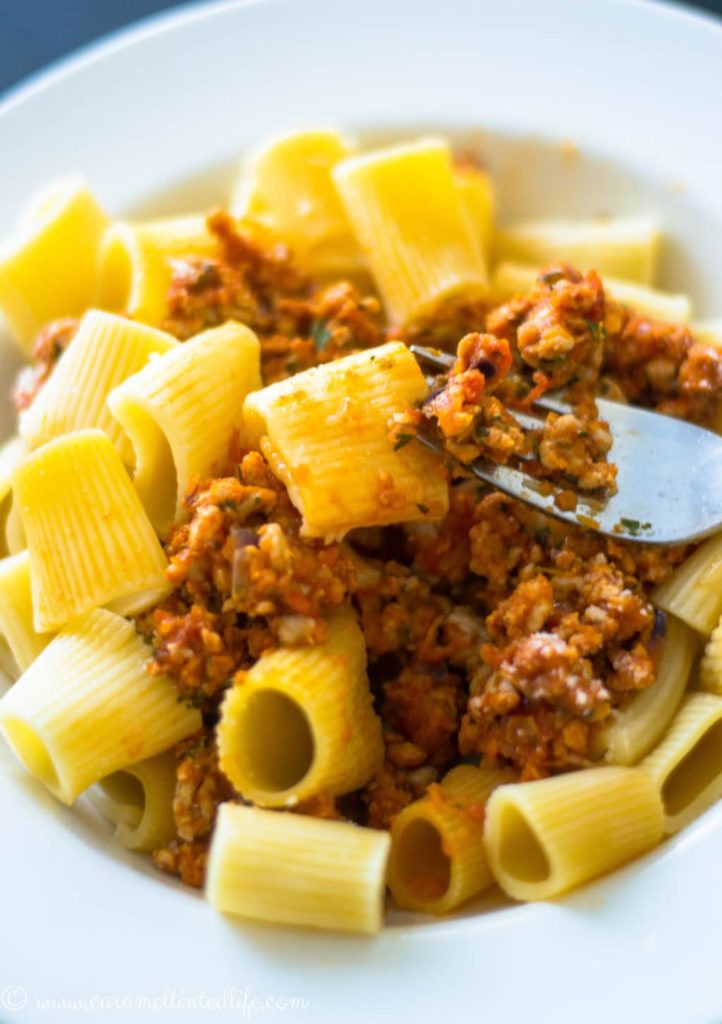 Rigatoni with Chicken Ragu