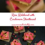 Rose Kalakand with ricotta cheese