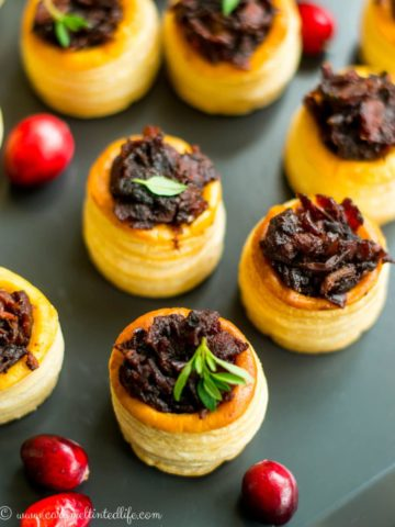 Bacon cranberry jam Christmas appetizer