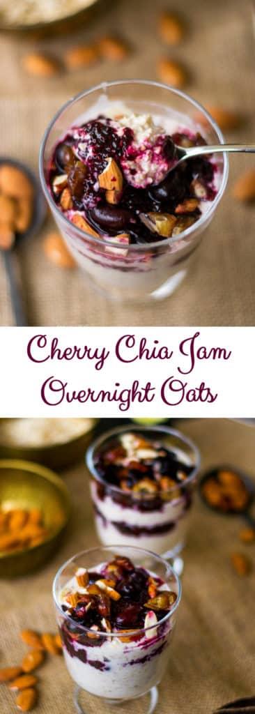 Cherry Chia Jam Overnight Oats