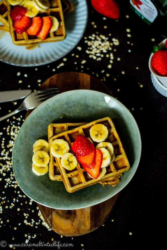 Gluten free Oats and Banana Waffles