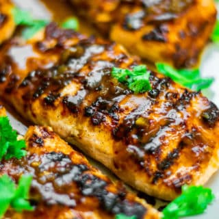 Tamarind Honey Glazed Salmon