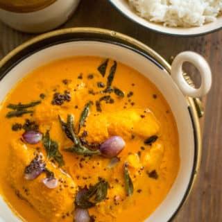 South Indian Fish Curry with rice