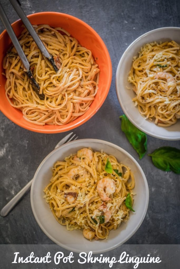 Instant Pot Shrimp Linguine