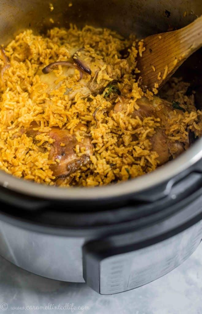 Chicken biryani in the Instant Pot