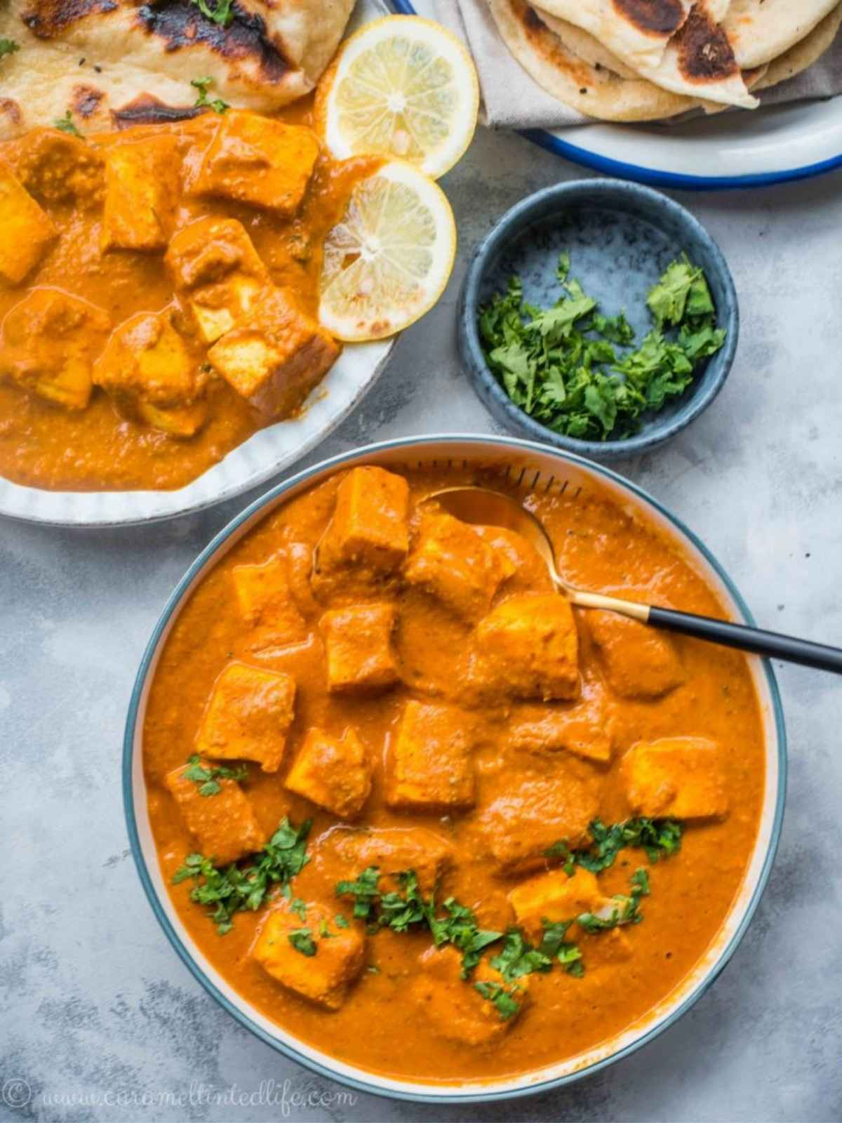 Paneer tikka in a bowl