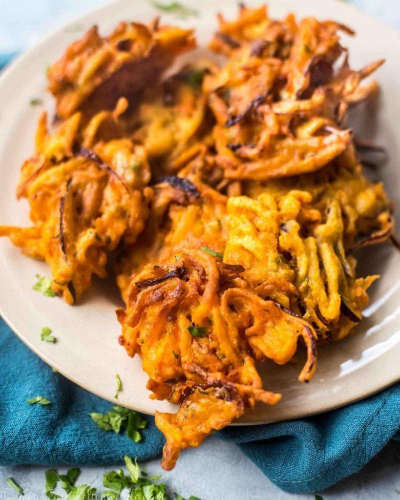 Vegetable pakora on a plate