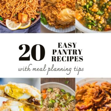 A collection of pantry recipes