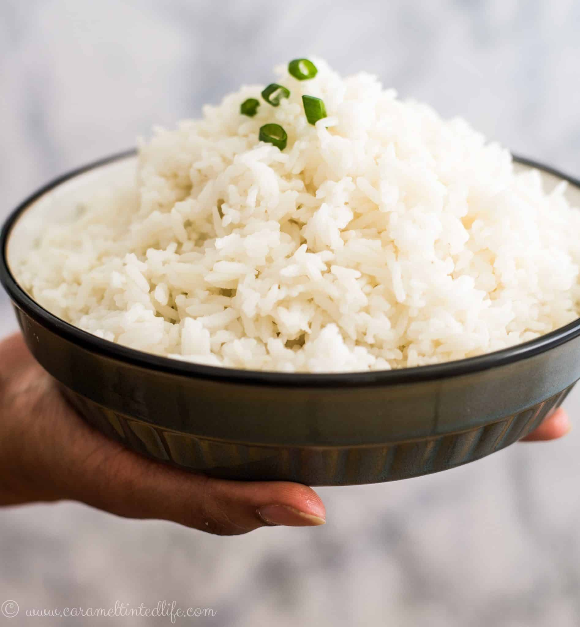 Jasmine rice in a plate