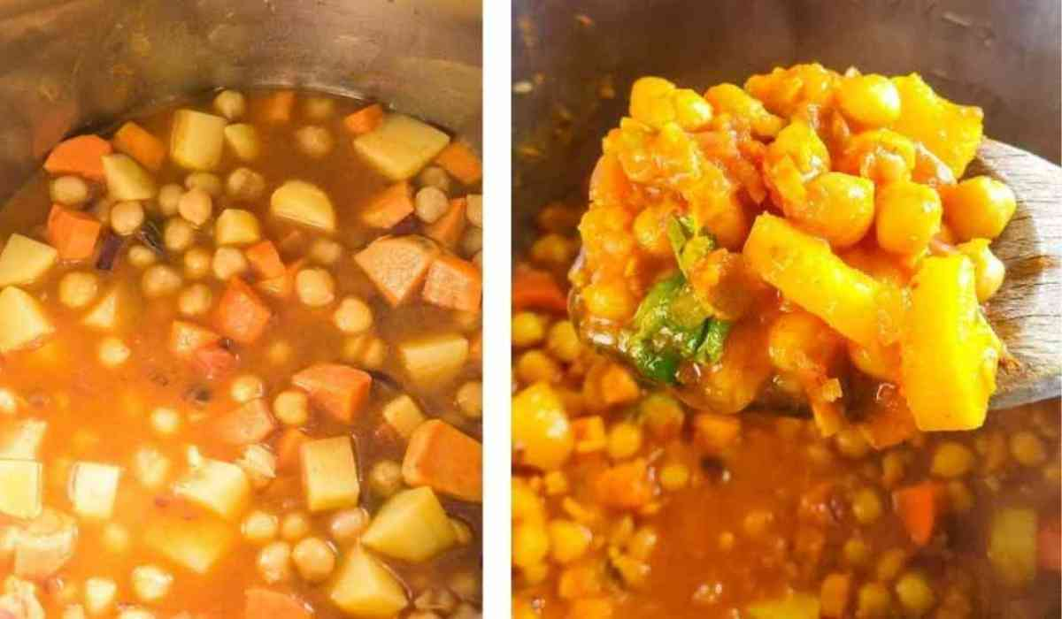 Steps by step instructions for making Instant Pot tagine