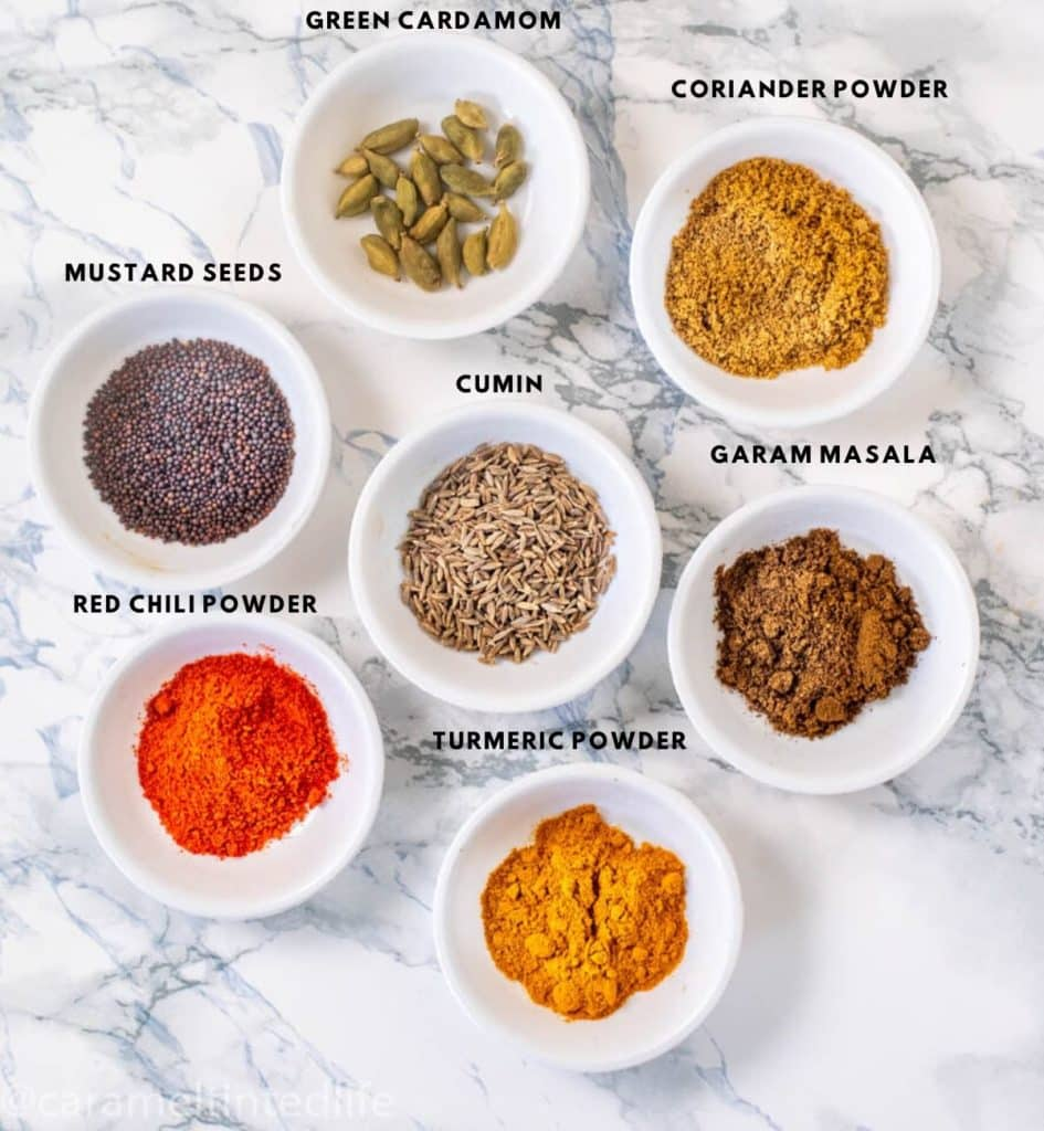 7 Spice powders used in Indian Cooking