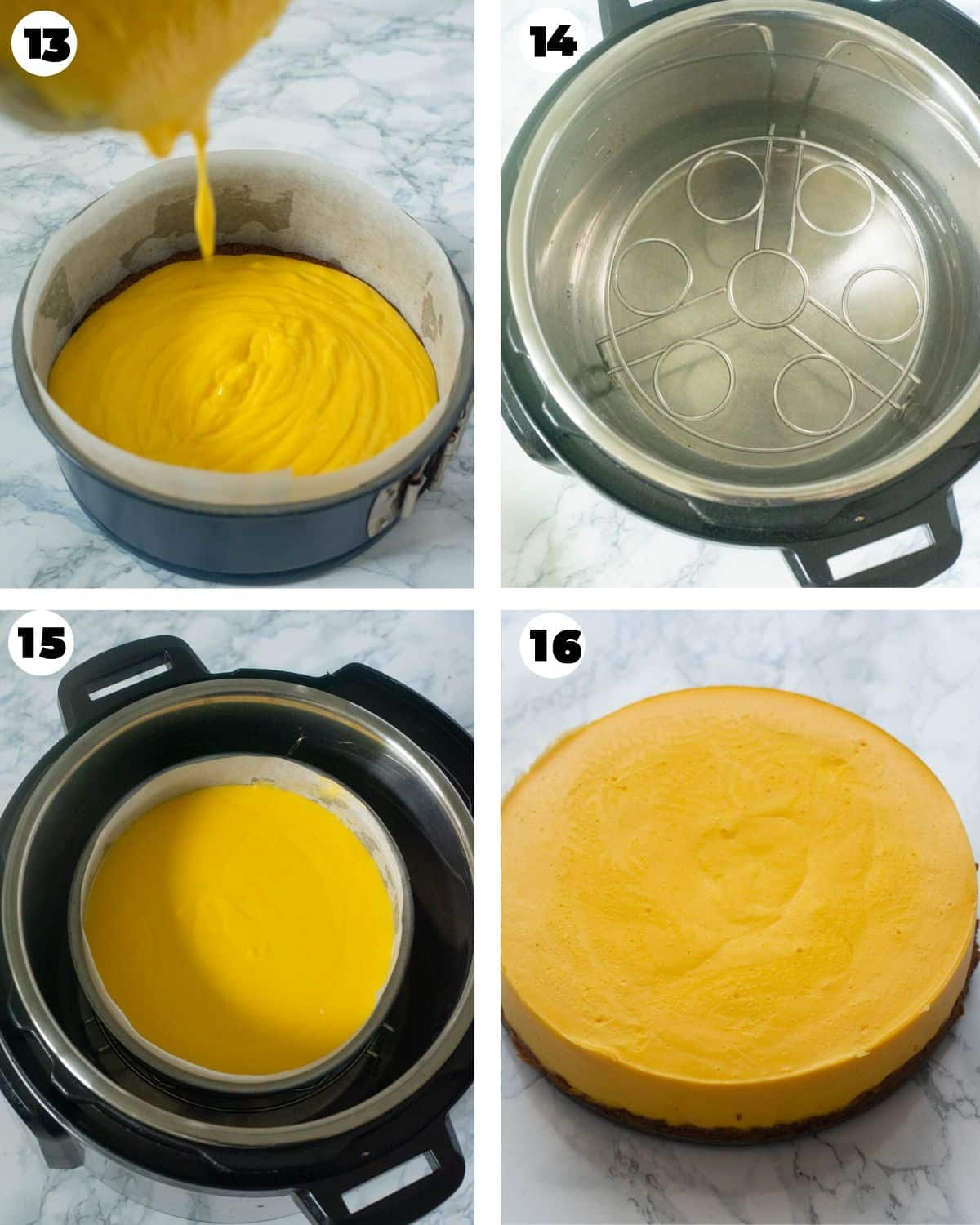 Cooking mango cheesecake in an Instant Pot