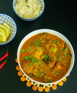Chicken Chettinad served in a bowl