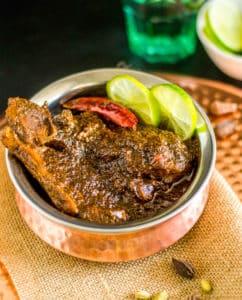 Lamb Korma in a serving bowl