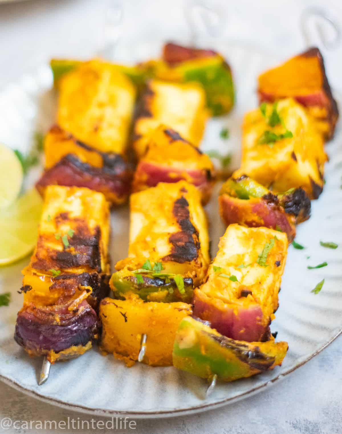 Paneer Tikka served on plate