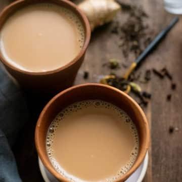 Masaala chai in a terracotta cup
