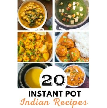 A collage of Instant Pot Indian Recipes