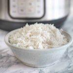 A bowl of white basmati rice