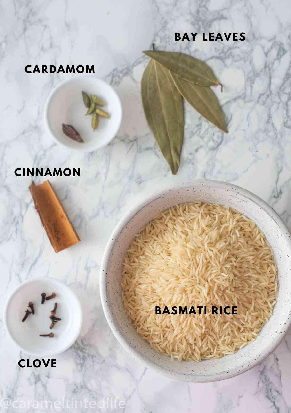 additional ingredients to make Chicken Dum Biryani Ingredients